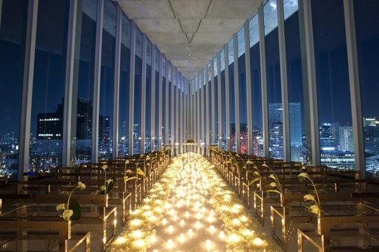 Harmonie Embrassee Osaka: 安藤忠雄設計デザインの天空のチャペル