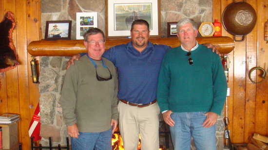 Chaudiere Lodge: Rog (guest),Steve(owner) and Mac(guest)