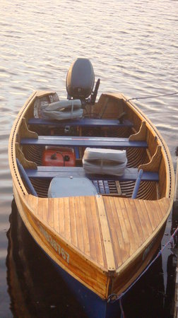 Chaudiere Lodge: fishing boat