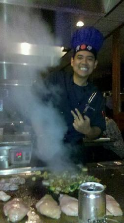 Ginza Japanese Restaurant: our habachi chef