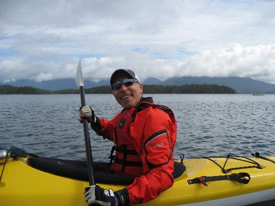 Majestic Ocean Kayaking: All decked out for a cool day on the water