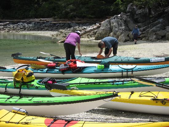 Majestic Ocean Kayaking: lunch break