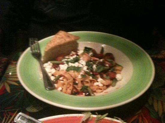 Rainforest Cafe: my husbands meal