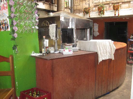 Las Gemelas: Kitchen Area