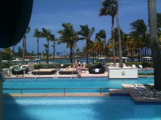 Caribe Hilton San Juan: view from the pool bar