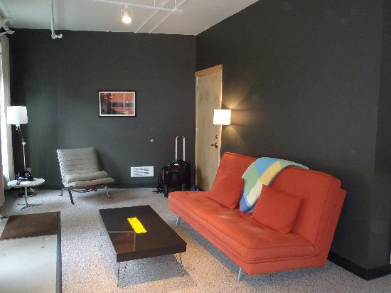 The Island Inn at 123 West: the living space