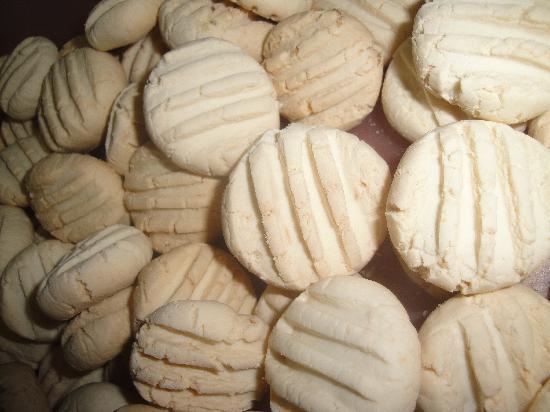 Pousada Papaya: biscoitos de polvilho + coco