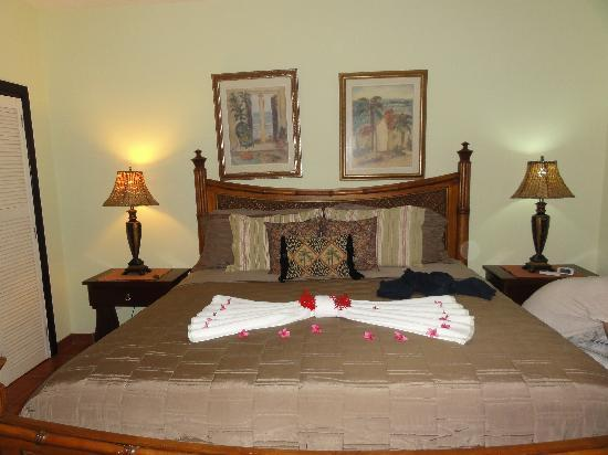 Casa de Paradise: Flower Petals on the Bed to welcome us ... sooo sweet!