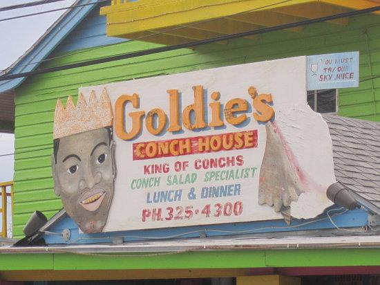 Goldie's Conch House Nassau Bahamas : Goldie's exterior