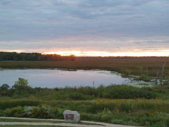 Horicon Marsh: Sunset over small marsh