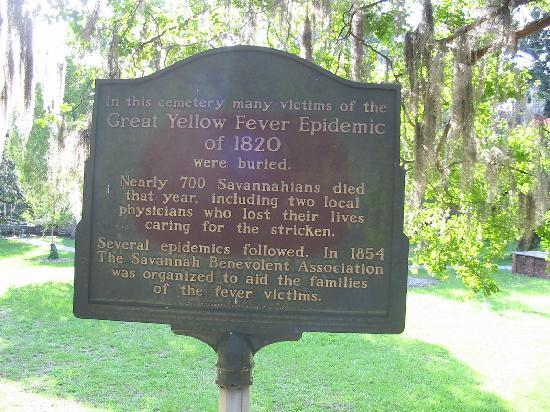 Colonial Park Cemetery: Yellow fever marker