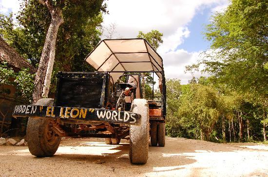 Hidden Worlds Family Cenote Park: The truck we used to get from the various activity