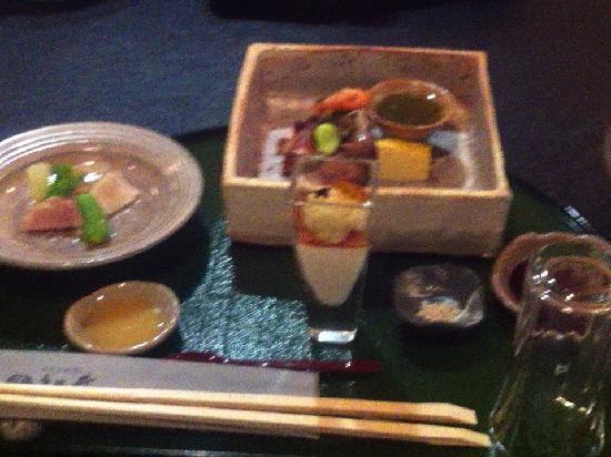 Ryokan Matsunoi : 前菜。兎に角全て美味しい!