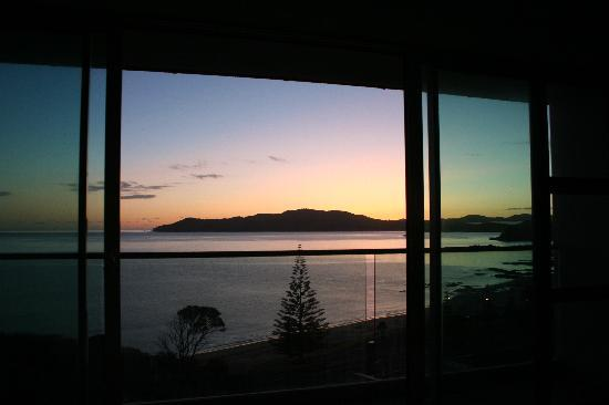 Doubtless Bay Villas: Sunrise looking out the bedroom windows