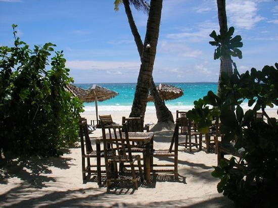 Blue Mango Inn: beach dining and relax