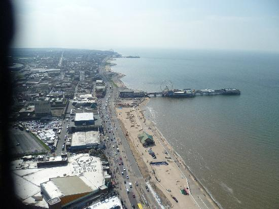 The Blackpool Tower: From viewing level looking south