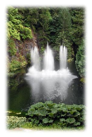 The Butchart Gardens: Dancing fountains