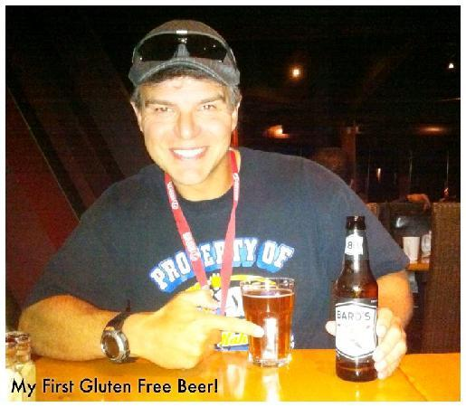 """Grouse Mountain Skyride: Jay """"The Funologist"""" enjoying his first Gluten Free Beer at Altitudes Bistro"""