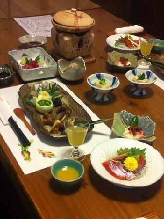 Oyado Hanabo: 夕食の一部