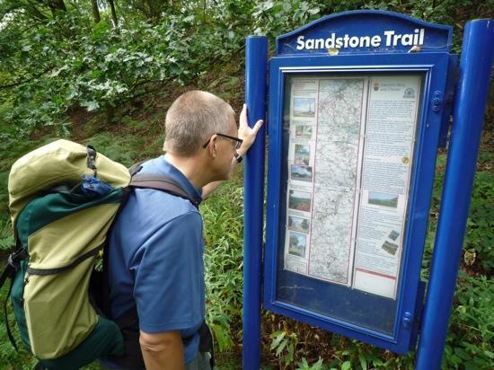 Sandstone Trail: Trail information board