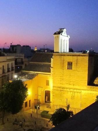 Apartamentos San Andres: eglise San Andres vue de la terrasse