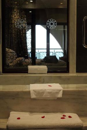 โรงแรมจูไมราซาบีลซาเรย์: View from the bathroom...!!!