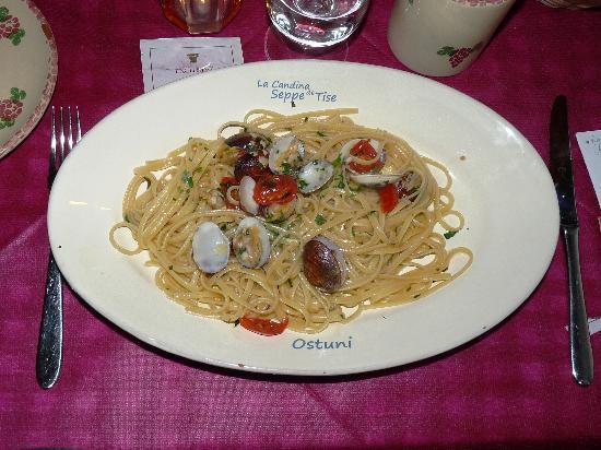 Osteria La Candina de Seppe Tise: Linguine alle vongole