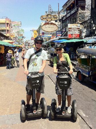 Segway Tour Thailand: A couple of tourists on a Segway