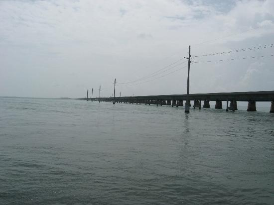 Part of the seven mile bridge