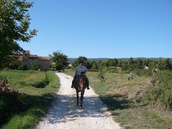 Auberge des Seguins: I really did arrive on a horse