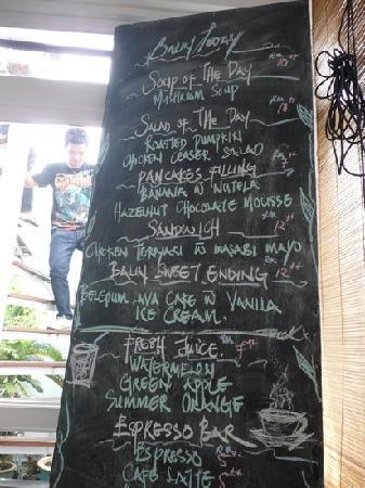 โรงแรมนาก: Daily menu