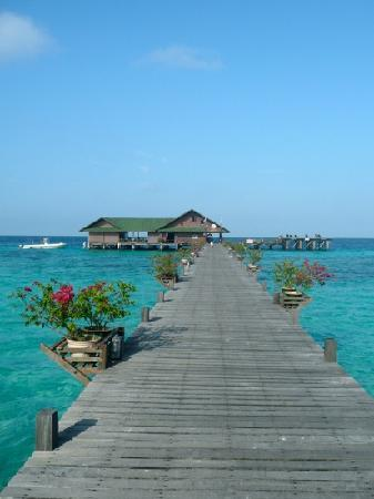 Lankayan Island Dive Resort: Walkway to the dive centre