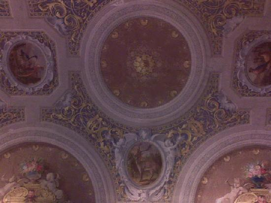 โรงแรมปาราซโซ่ กัวดาก์นี่: Detail of the beautiful fescoed ceiling in my room.