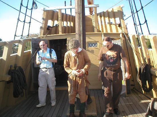 Mayflower II: Talking with a ship mate