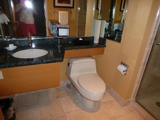 Harrah's Lake Tahoe: two bathrooms super