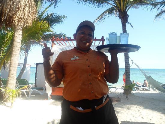 Sensimar Resort Riviera Maya: Lucy on the beach