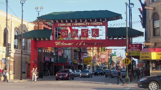 Chicago Chinatown: Entrance to main part of Chinatown