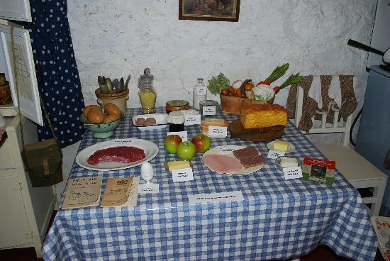 Highland Folk Museum: War ration display