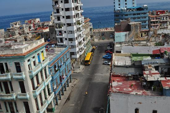 el81 Guesthouse: view from balcony at Malecon