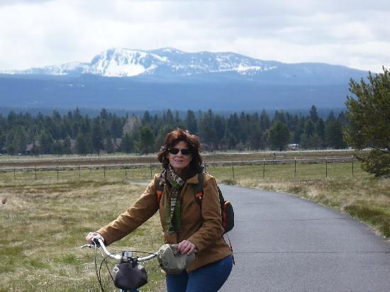 Sunriver Resort: the view on our ride
