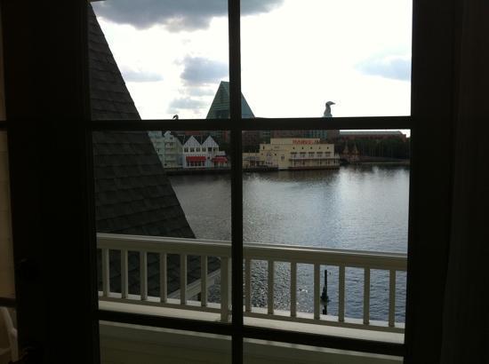 Disney's BoardWalk Inn: view laying in bed...heaven
