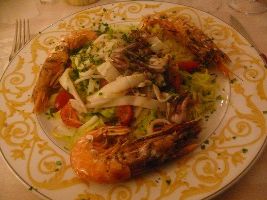 Trattoria Barba Gaggio: delicious seafood dish