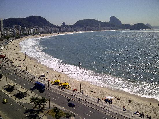Orla Copacabana Hotel: View from the 13th floor