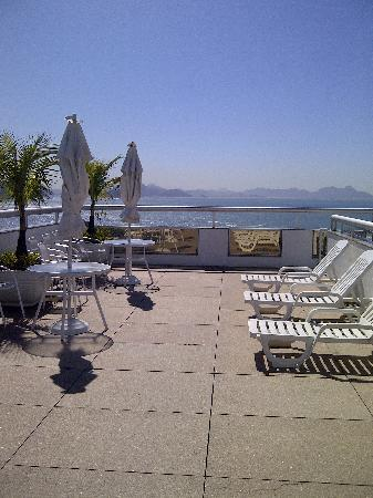 Orla Copacabana Hotel: 13th floor patio (where many caipirinhas were enjoyed)