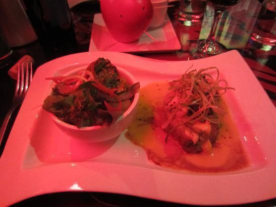 Fallen Angel: Tenderloin with Mustard Sauce and Salad