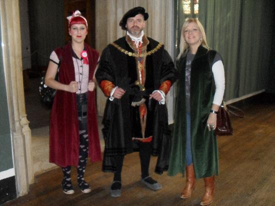 Hampton Court Palace: In our Tudor capes.
