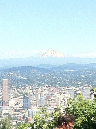 America's Hub World Tours: view of mount hood from Pittcock mansion
