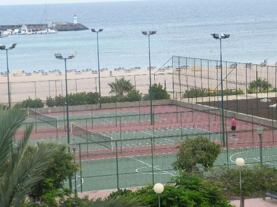 Barcelo Fuerteventura Thalasso Spa: tennis/football courts- view from room