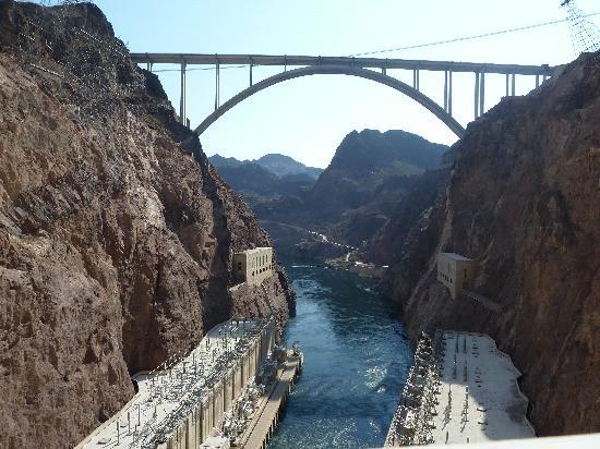 Hoover Dam: Blick aus der Staumauer