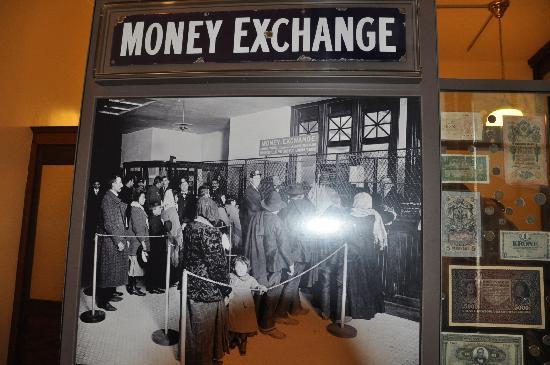 Ellis Island: Money Exchange Exchibit